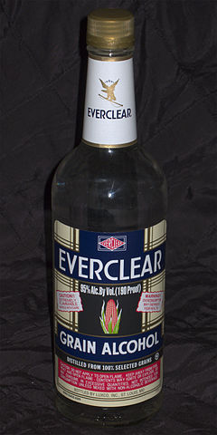Everclear 190-proof bottle