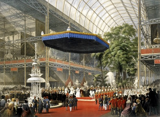 Queen Victoria inaugurates the Great Exhibition at the Crystal Palace, 1851