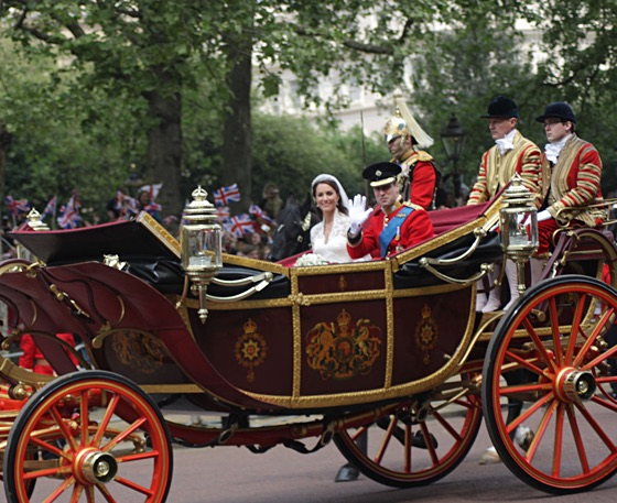 Royal Carriage at Wedding of Prince William of Wales and Kate Middleton