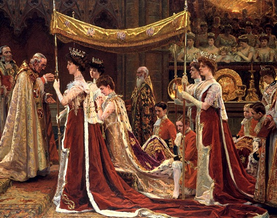 Scene from the Coronation of King Edward and Queen Alexandra