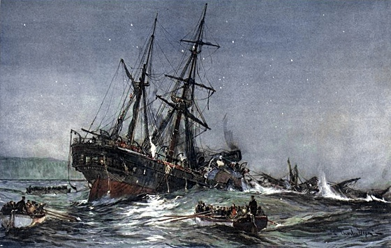 Wreck of the Birkenhead: rescue from a sinking ship