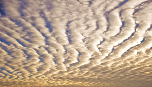 Clouds with pattern